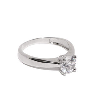 Knife Edge Solitaire Ring