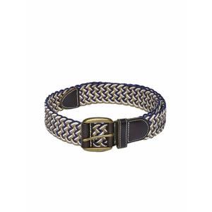 Navy & Taupe Braided Belt For Men