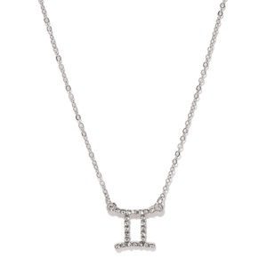 Silver Toned Studded Necklace For Women