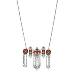 Multicoloured Metal Oxidised Necklace