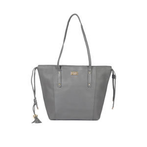 Grey Solid Shoulder Bag