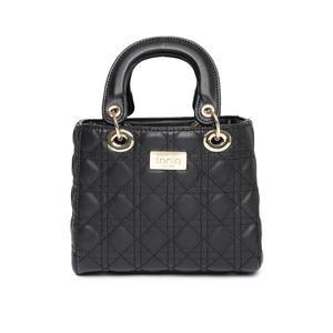 Black Textured Handheld Bag