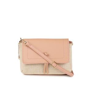 Pink & White Dual Sling Bag