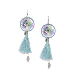 Multicolor Sequin Tassel Drop Earrings