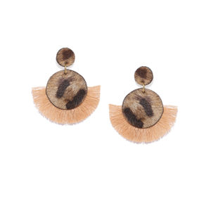 Cheetah Print Tassel Earrings