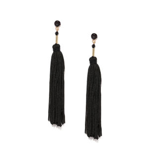 Black Contemporary Drop Earring For Women