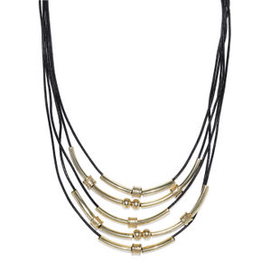Black & Gold Layered Necklace For Women