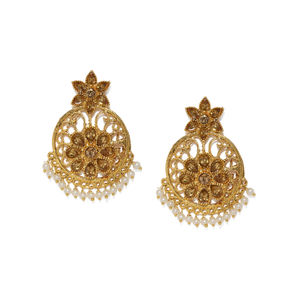 Gold-Toned Classic Drop Earrings