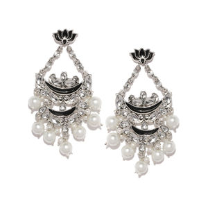 Silver-Toned Classic Drop Earrings