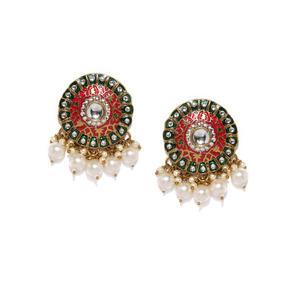 Multicoloured Circular Drop Earrings
