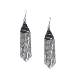 Silver-Toned Contemporary Drop For Women