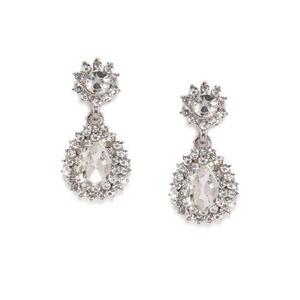 Silver Tone Geometric Drop Earring For Women