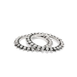 Silver Moti Bangles For Women (Set Of 2)