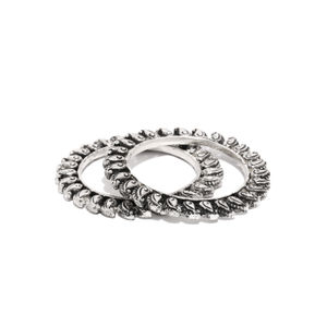 Silver Jalkari Bangles For Women (Set Of 2)