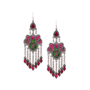 Multicoloured Contemporary Drop Earrings