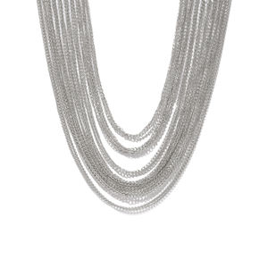 Silver-Toned Alloy Handcrafted Necklace
