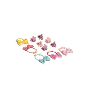 Set Of 6 Hair Clips And 5 Rubber Bands