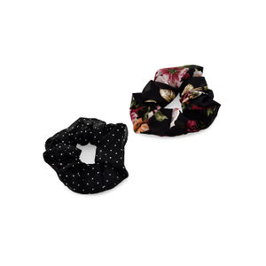 Toniq Set Of 2 Georgette Printed Hair Scrunchie For Women