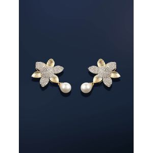 Gold-Plated Floral Drop Earring For Women