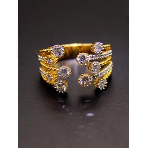 Destination Wedding Gold-Plated Embellished Ring