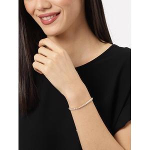Women Gold-Toned Stone Studded Charm Bracelet