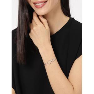 Silver-Toned Charm Bracelet