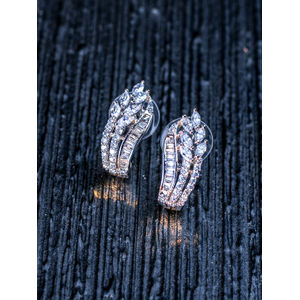 Silver-Toned Contemporary Drop Earrings