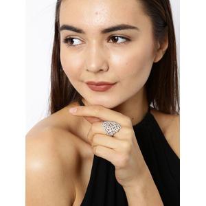 Women Silver-Toned Open Ended Finger Ring