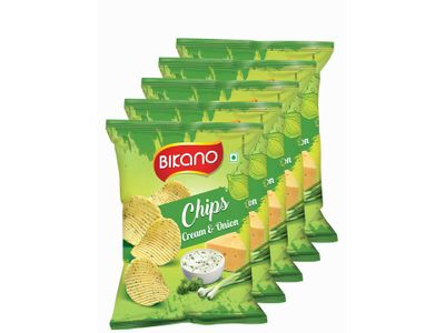 Bikano Chips-Cream onion 60 gm (Pack of 5)