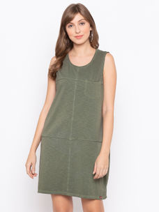 Disrupt Olive Cotton Sleeveless Dress