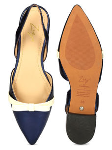Navy Pointed Toe Shoes