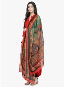 Varanga Multicolored Chanderi Dupatta