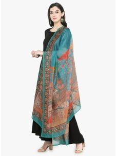 Varanga Multicolored Chanderi Dupatta
