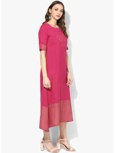 Varanga Pink Embellished Dress