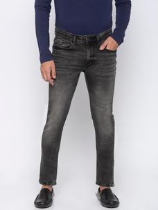 Men's Grey super Skinny washed Jeans