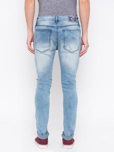 Men's Lt blue super skinny Washed Jeans