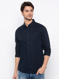Men's solid long sleeve comfort fit shirt
