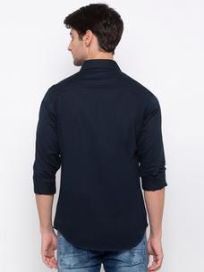 Men's solid long sleeve comfort fit shirt