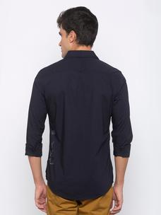 Men's Navy long sleeve slim fit shirt