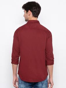 Men's Long sleeve solid comfort fit shirt