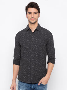 Men's printed Long sleeve Slim Fit Shirt