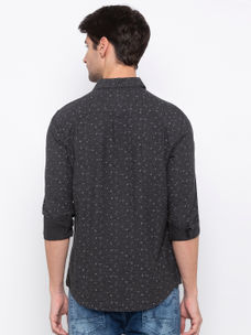 Men's printed Long sleeve Slim Fit Shirt