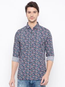 Men's printed long sleeve comfort fit shirt