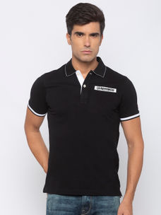 Mens short sleeve lycra Polo