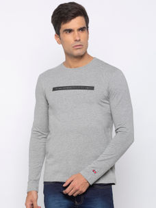 Mens Long Sleeve Crew Neck with Plastisol HD print