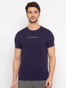 Mens Short Sleeve Crew Neck with Shinny HD print