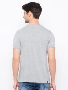 Mens Short Sleeve Crew Neck T-shirt with Shinny HD print & Studs