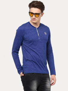 ROYAL BLUE MELANGE T-SHIRT
