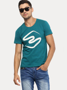TROPIC GREEN PRINTED T-SHIRT