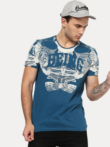 PIRATE BLUE PRINTED T-SHIRT